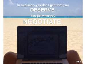 You Get What You Negotiate